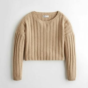 Hollister Slouchy Ribbed Drop Shoulder Sweater